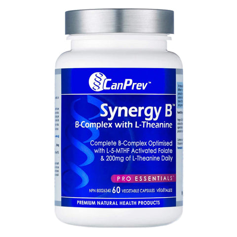 Bottle of CanPrev Synergy B (w/ Theanine) 60 Capsules | Kolya Naturals, Canada