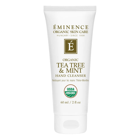 Bottle of Eminence Tea Tree & Mint Hand Cleanser 60 Milliliters