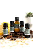 Earth's Aromatique - Eucalyptus Radiata Essential Oil, Lemon Essential Oil, Rosemary Essential Oil, Clove Bud Essential Oil, Cinnamon Leaf Essential Oil, Frankincense Essential Oil | Kolya Naturals, Canada