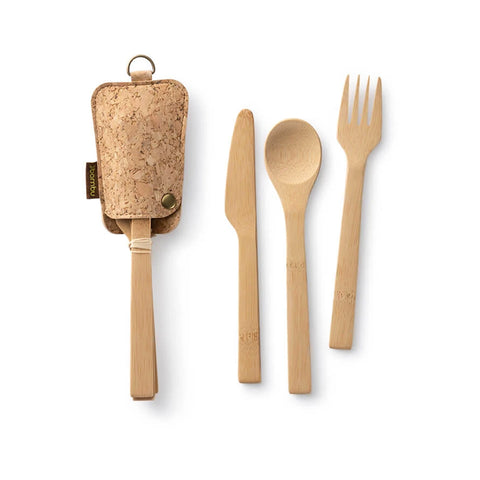 Bambu Reusable Bamboo Travel Utensil Set