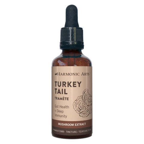 Harmonic Arts - Turkey Tail Gut Health + Deep Immunity Mushroom Extract Tincture 50 Milliliters | Kolya Naturals, Canada