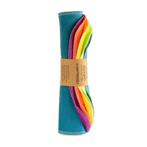 CheeksAhoy - Rainbow Unpaper Towels, Double Ply