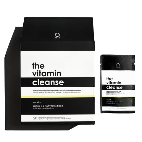The Vitamin Cleanse | Bamboo Facial Cleansing Cloths (Individually Wrapped)