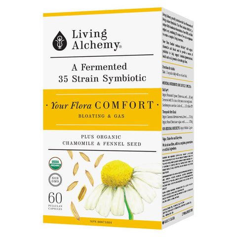 Box of Living Alchemy Your Flora Comfort 60 Capsules | Kolya Naturals, Canada
