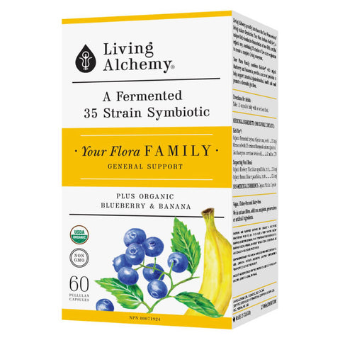 Box of Living Alchemy Your Flora Family 60 Capsules | Kolya Naturals, Canada