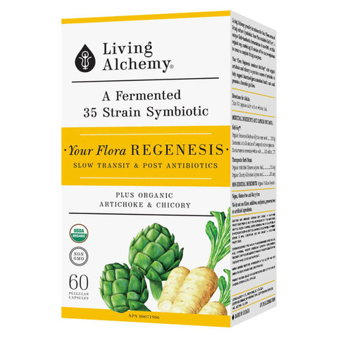 Box of Living Alchemy Your Flora Regenesis 60 Capsules | Kolya Naturals, Canada