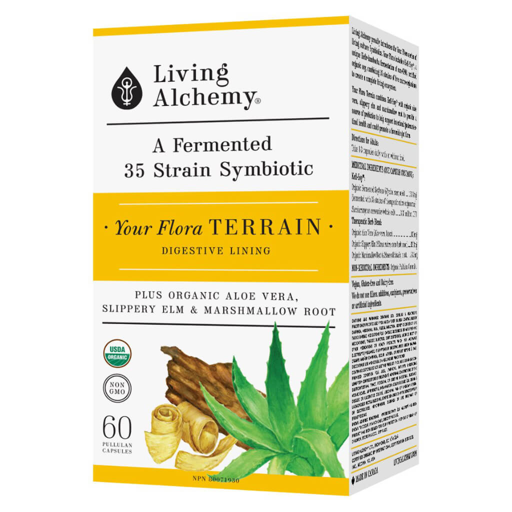 Box of Living Alchemy Your Flora Terrain 60 Capsules | Kolya Naturals, Canada