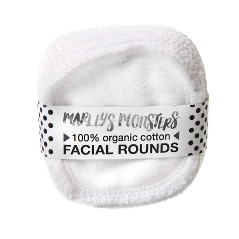 Facial Rounds, White, Organic