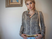 Load image into Gallery viewer, Vintage 80s/90s Snake Skin Print Glam Blouse