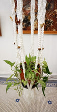 Load image into Gallery viewer, Vintage Macramé Hanging Planter With Potted Plant