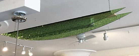 Modern Design Green Plexiglass Overhead Light