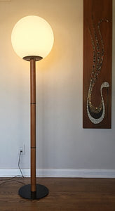 Vintage MidCenturyModern Globe Light Floor Lamp