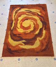 Load image into Gallery viewer, Vintage 1970s Rya Style MultiColor Shag Rug Groovy