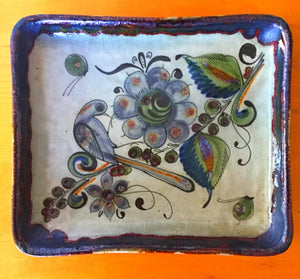 Vintage Hand Painted Pottery Tray By Ken Edwards