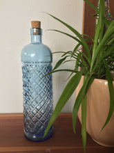 Load image into Gallery viewer, Modern Bohemian Blue Glass Corked Bottle