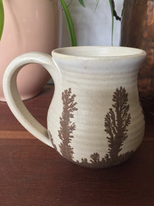 Vintage Pottery Mug With Happy Little Trees 1977