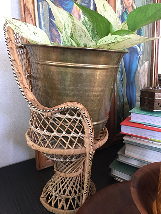 Vintage Bohemian Large Brass Planter