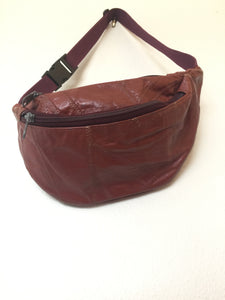 Vintage 80s Leather Fanny Pack Satchel