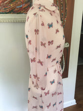 Load image into Gallery viewer, Vintage 1970's Sheer Pink Butterfly Print Dress By Brook Hollow