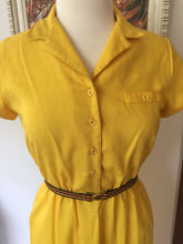 Load image into Gallery viewer, Vintage 1970s Sunshine Yellow Summer Dress With Capped Sleeves By Act I New York
