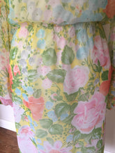 Load image into Gallery viewer, Vintage 1970s Sheer Spring Floral Leslie Fay Dress