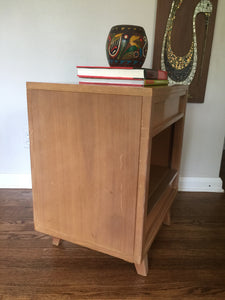 Vintage Mid Century Modern R-Way Blonde Mahogany Night Stand With Two Drawers