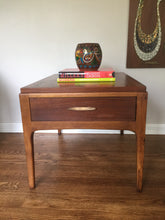 Load image into Gallery viewer, Vintage Mid Century Modern Lane Walnut Side Table With Drawer