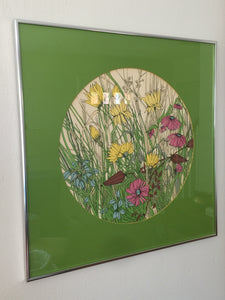 Vintage Mod Floral Print Numbered, Signed And Framed In Multi Colors With A Lilly Pulitzer Vibe
