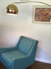 Load image into Gallery viewer, Vintage Mid Century Modern Brass Arc Lamp c 1970s