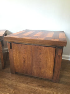 Vintage Mid Century Modern Lane Furniture Brutalist Cabinet Side Table