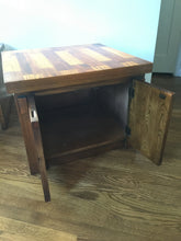 Load image into Gallery viewer, Vintage Mid Century Modern Lane Furniture Brutalist Cabinet Side Table