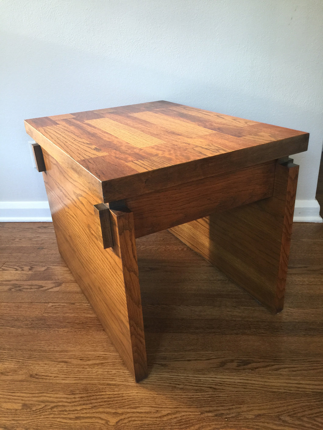 Vintage Mid Century Modern Brutalist Lane Furniture Side Table