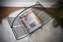 Load image into Gallery viewer, Vintage Mid Century Modern Metal Magazine Log Holder