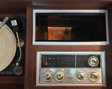 Load image into Gallery viewer, Vintage Mid Century Modern Zenith Stereo Record Player With Bluetooth & AM/FM Radio