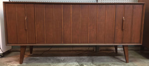 Vintage Mid Century Modern Zenith Stereo Record Player With Bluetooth & AM/FM Radio