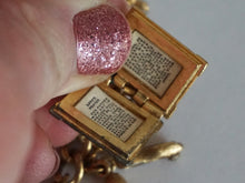 Load image into Gallery viewer, Vintage Monet Charm Bracelet In Gold Tone With Multiple Removable Charms 1970s