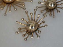 Load image into Gallery viewer, Vintage Mid Century Modern Sputnik Design Earring & Brooch Set By Volupte 1950s 1960s