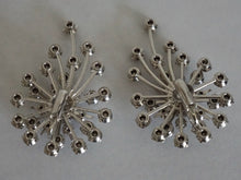 Load image into Gallery viewer, Vintage Mid Century Modern Rhinestone Sputnik Design Earrings 1950s 1960s
