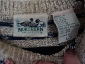 Vintage '90s Rag Wool Blend Sweater With Duck Motif By Northern Reflections