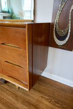 Load image into Gallery viewer, Vintage Mid Century Modern Kent Coffey 9 Drawer Walnut Dresser With Mirror