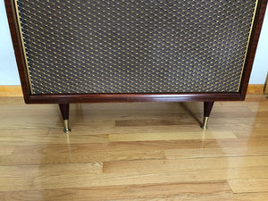 Vintage Mid Century Modern Magnavox Tube Amplified Record Player Refurbished