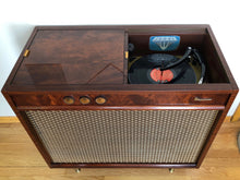 Load image into Gallery viewer, Vintage Mid Century Modern Magnavox Tube Amplified Record Player Refurbished