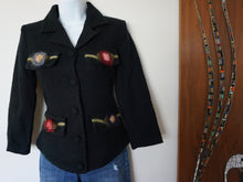 "Load image into Gallery viewer, Vintage Neiman Marcus ""Monkey Wear"" Black Wool Jacket"