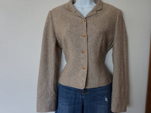 Vintage Pendleton Wool Tweed Jacket In Natural Fleck