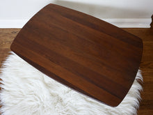 Load image into Gallery viewer, Vintage Mid Century Modern Walnut Side Table With Tapered Legs