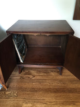 Load image into Gallery viewer, Vintage Mid Century Modern Broyhill Brasilia Side Table Cabinet Nightstand In Walnut