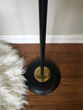 Load image into Gallery viewer, Vintage Mid Century Modern 3 Light Floor Lamp In Black And Brass