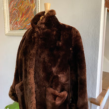 Load image into Gallery viewer, Vintage MidCentury Modern Teddy Bear Faux Fur Coat From Hopper