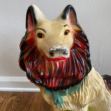 Load image into Gallery viewer, Vintage MidCentury Pair Of Large Chalkware Carnival Dogs 1954 Rare