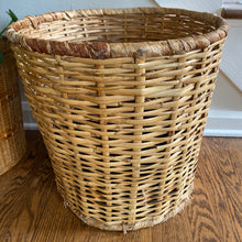 Load image into Gallery viewer, Vintage Large Boho Woven Lined Basket